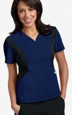 Active Flexi V-Neck Scrub Top by MOBB - Navy/Black (NN-BL)