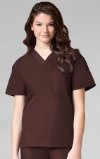 1006 Maevn CORE - Unisex V-Neck Top - Chocolate