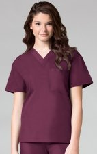 1006 Maevn CORE - Unisex V-Neck Top - Wine