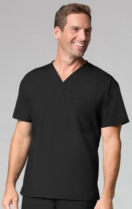 1006 Maevn CORE - Unisex V-Neck Top - Men's View - Black
