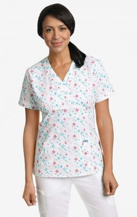 420T TWINKLE Empire Tie Back Scrub Top by MOBB