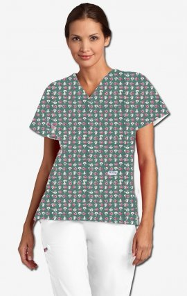 320T Great Eight MOBB V-Neck Print Scrub Top