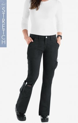 714 Koi STRETCH Scrubs Jada Low Rise Pant - Black