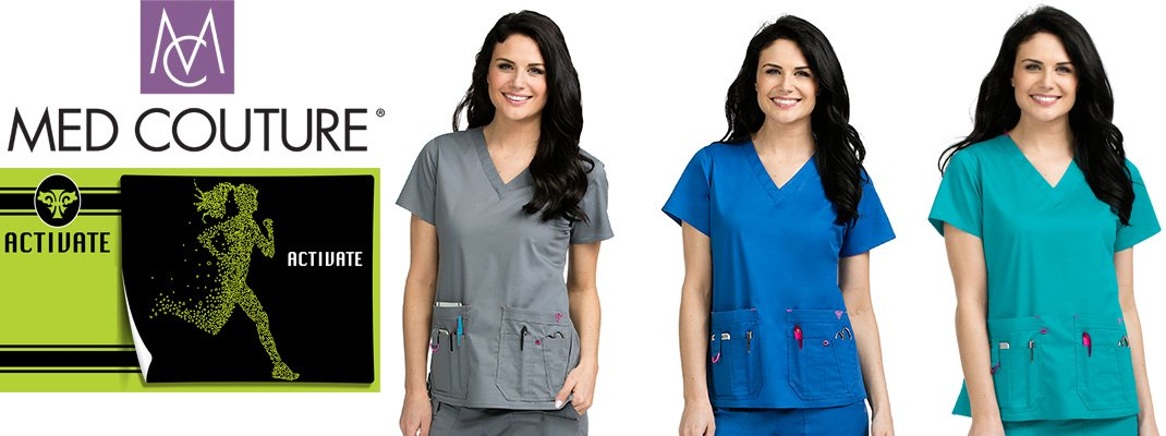 Med Couture medical uniforms and scrubs in Canada.