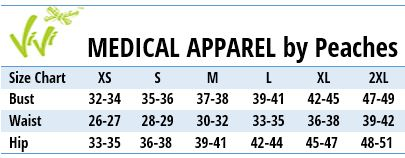 Life is Peachy MEDICAL APPAREL - Size Chart