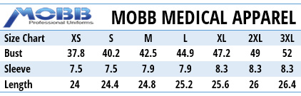 Mobb Medical Uniforms Canada - Size Chart