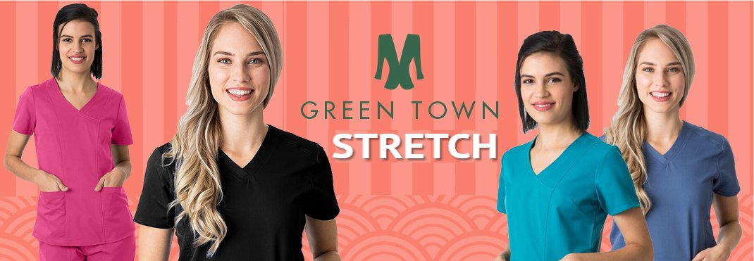 Greentown's Stretch performance scrub